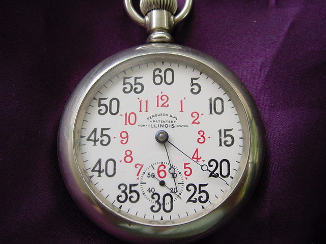 Retro, Vintage 1930s-1980s Scarce 18 Size Waltham Ferguson Pocket Watch Dial